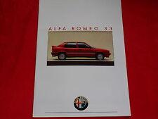 ALFA ROMEO 33 1.3 Boxer 1.2 C + 1.7 Q.V.Boxer 4C  Prospekt von 1986