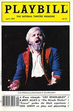 """Colm Wilkinson """"LES MISERABLES"""" Boublil / Schonberg 1987 """"Playbill"""" Magazine"""