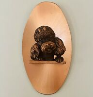 "Vintage Copperama Poodle 3-D Copper Wall Hanging Art Plaque by Victor 10""H 5""W"
