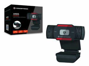 Conceptronic Amdis Webcam Full HD 1080p USB 2.0 Microfono integrato Messa a fuoc