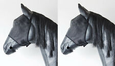 2 Pack Horse Fly Veils Masks Bonnets Strong Sensible Insect Protection Cob