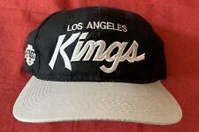 Vintage Los Angeles Kings Script Snapback Hat Used Raiders Sports Specialties