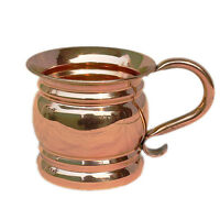 Old Fashioned Handcrafted Copper Moscow Mule Mug Cap-14 Oz Pure and Authentic