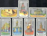 Mongolia 1990 Wonders of the World/Lighthouse/Pyramids/Temples 7v set (n17835)