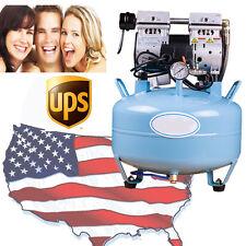 USA! Medical Noiseless & Oilless Air Compressor 8Mpa for dental chair 3/4HP FDA
