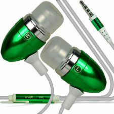 Twin Pack - Green Handsfree Earphones With Mic For Samsung Galaxy S6 Edge