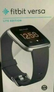 Fitbit Versa Lite Smart Watch Fitness Tracker Activity Grey Band***