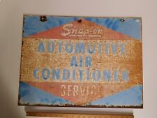 Vintage Snap-On Automotive Air Conditioning Service Porcelain Sign 2-Sided