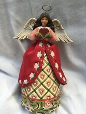 "RARE 2009 Jim Shore ANGEL OF LOVE  4011850 Fabric Skirt 10"" Heartwood Creek"