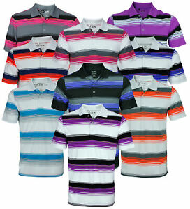 Adidas Golf Men's Puremotion Merch Stripe Short Sleeve Polo Shirt