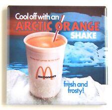 Arctic Orange Ice Cream FRIDGE MAGNET (2 x 2 inches) sign milkshake mcdonalds