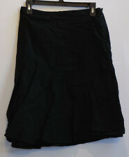 GAP Black Cotton A-line Tiered Knee Length Skirt Size 2
