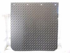 "Plain Rubber 24""x24"" Diamond Plate Mud Flap Set 3/8"""