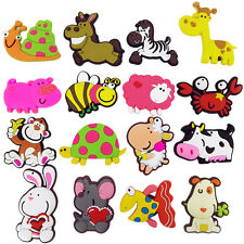 2Pcs Cartoon Animals Fridge Magnet Rubber Fun Colorful Kitchen Art Decor Best