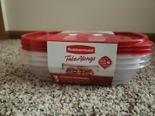 Rubbermaid storage containers 3 set
