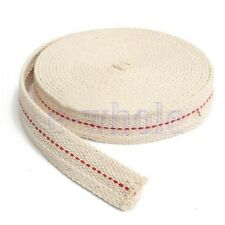 "7/8"" 2.2cm Flat Cotton Wick 15 foot roll Oil Lamp Wick and Lanterns Wick New HM"