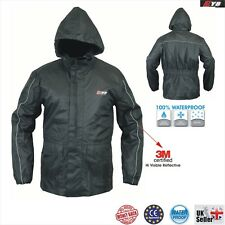 Waterproof Motorcycle Motorbike Cycling Rainwear Over Rain Jacket Coat Raincoat