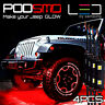 LED 4X4/OFF ROAD/JEEP Under Body Rock Lights Ultra Bright Red !