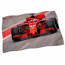 "Sebastian Vettel Fahne Banner 25"" NEU 2018 Ferrari Formel 1 F1 Stoff Poster #1"