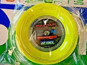 New Yonex Tennis String POLY TOUR Pro 125 200M Reel Yellow PTP 125 Made in Japan