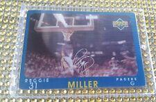 1997-98 Upper Deck Reggie Miller DIAMOND VISION PACERS Signature AUTO #S11