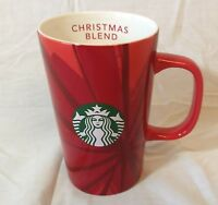 Starbucks Christmas Blend Red Coffee Mug w/Mermaid Logo 2014 12 oz.