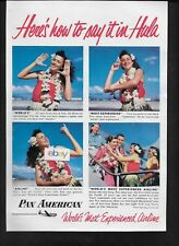 PAN AM 1955 HERE'S HOW TO SAY IT IN HULA WOLDS MOST EXPERIENCED AIRLINE AD