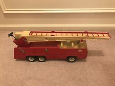 VINTAGE TONKA FIRE TRUCK ORIGINAL PRESSED STEEL Convertible Ladder CrankVintage