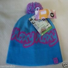 NEW HOT ROXY JUNIOR'S KNIT BEANIE CAP HAT BLUE OMBRE ONE SIZE