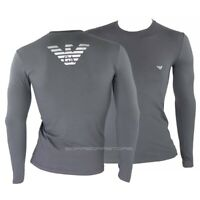 T-shirt Emporio Armani mens long sleeve mod.111023 9a725 grey