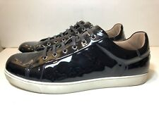 Gianvito Rossi MILANO Men 45 US 11 Black Patent Leather Low Top Sneakers Shoes