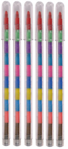 11 Piece Stacker Point funky pencil Fun school supplies Stationary Set party Bag
