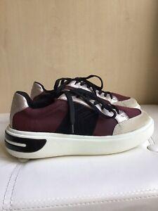 Ladies Geox Respira Multicolour Nylon / Leather Sneakers Size 37 Uk 4