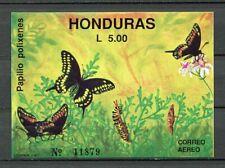 25102) HONDURAS 1991 MNH** Nuovi** Butterflies s/s