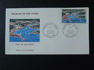 harbour lighthouse FDC Ivory Coast 74129