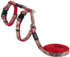 Rogz ReflectoCat Harness and Lead Set Red 11mm