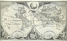 Antique map, De Aard-Kloot Volgens de Hedendaagse Gedaante