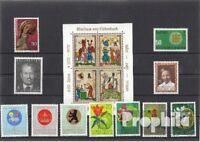 Briefmarken Liechtenstein postfrisch 1970 kompletter Jahrgang Liechtenstein xx 1