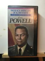 Vintage ~ The Black Americans Of Achievement Video Collection Colin Powell (VHS)