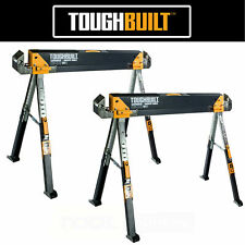 ToughBuilt TOU-C700 Saw Horse Trestle Metal Folding 1300lb x2 twin pair NEXT DAY