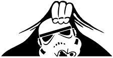 Star Wars Stormtrooper Peeking Vinyl Decal Sticker for Car Van Laptop Boot