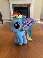 "8"" My Little Pony Rainbow Dash Pegasus Blue Stuffed Plush Doll Toy Factory"