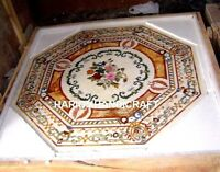 Floral With Scagliola Marble Table Dinette Top Inlaid Beautiful Patio Decor M207