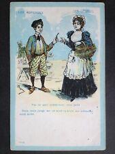 CPA Illustration Humour signée BERGERAC Les ASPERGES Der SPARGEL
