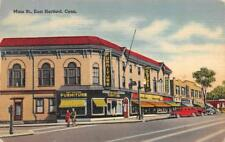 EAST HARTFORD, CT Connecticut MAIN STREET Furniture~Clothes Stores 1950 Postcard