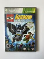 LEGO Batman: The Videogame (Microsoft Xbox 360, 2008) Platinum Hits Case + Game