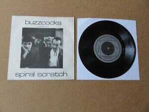 "BUZZCOCKS Spiral Scratch NEW HORMONES 1979 UK LYNTONE PRESSING VINYL 7"" ORG-1"