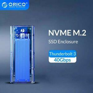 SALE ORICO Thunderbolt 3 M2 NVME SSD Enclosure 40GbpsTransparent USB-C  SSD Case