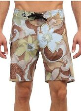 NEW* VOLCOM MENS 36 BOARDSHORTS SHORTS Swimsuit Fern Mod Floral $55 Retail Brown