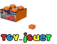 LEGO RARE Grande Boîte de rangement ORANGE 4 plots  25 X 25 cm